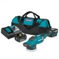 "Makita 18V LXT® Lithium-Ion Brushless Cordless 5"" / 6"" Dual Action Random Orbit Polisher Kit (5.0Ah)"