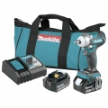 Makita 18V LXT Lithium-Ion Brushless Cordless 4-Speed 1/2 in. sq. Drive Impact Wrench Kit with Friction Ring Anvil (5.0Ah)