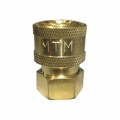 "MTM Hydro Brass Quick Connect Coupler - 1/4"" Female"
