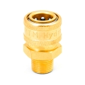 "MTM Hydro Brass Quick Connect Coupler - 1/4"" Male"