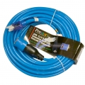 Pro Lock 12/3 SJTW Lighted Extension Cord with CGM, Blue - 25 ft.