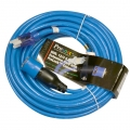 Pro Lock 12/3 SJTW Lighted Extension Cord with CGM, Blue - 50 ft.