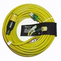 Pro Lock 12/3 SJTW Lighted Extension Cord with CGM, Yellow - 50 ft.