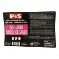 P&S Bottle Label - Non Acid Wheel Cleaner
