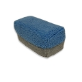 "Saver Applicator Mini Microfiber Coating Sponge, Blue/Gray - 3"" x 1.5"" x 1.5"""
