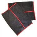 Microfiber Wheel Drying Towels - Black/Red (2 pack)