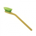 SM Arnold Angled Head Soft Body Brush w/ Green Polystyrene Bristles - 20 inch
