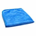 "Ultra Velvet 400 Microfiber Towel - Blue w/ Blue Silk Edges - 16"" x 16"""