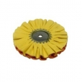 Zephyr Airway Buffing Wheel, Yellow 1 on 1 #4 Fast Cut Airway - 8 inch