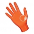 SAS Astro Grip PF Nitrile 6 Mil. Gloves, Orange - Extra Large
